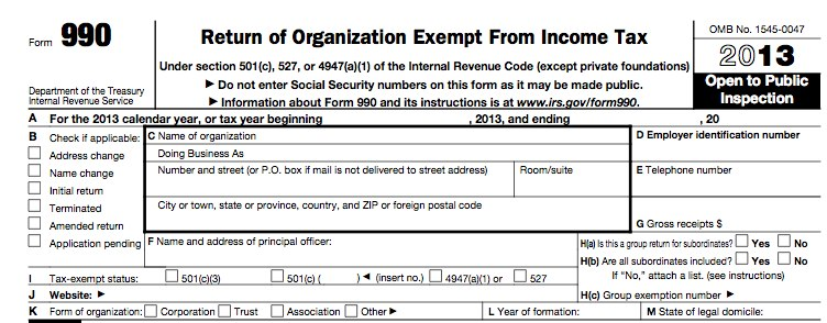 Irs Form 990 Teamnfp