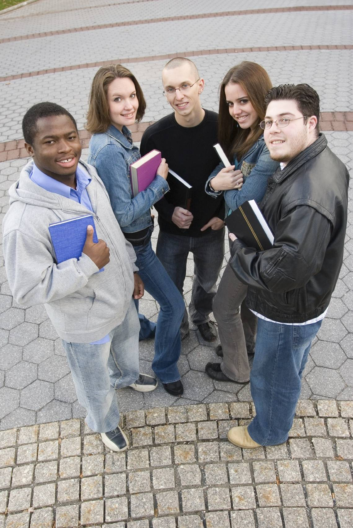 College Students chatting outside